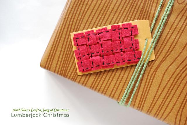 Lumberjack Christmas Gift Topper