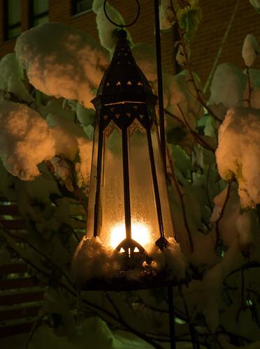 snow nature candle pvanhala