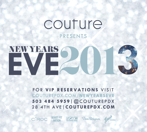 Portland New Year's Eve @ Couture