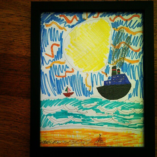 I love this beach scene. I love all the amazing art Annalie has been creating lately.