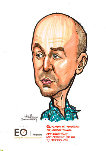 Mr Richard Thomas caricature for EO Singapore