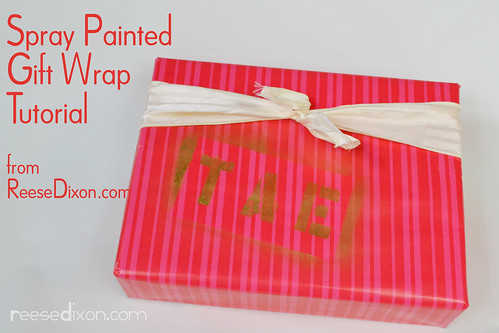 Spray Painted Gift Wrap Tutorial