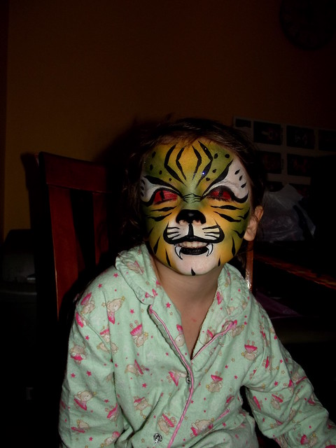 Scary green tiger Face Painting | Flickr - Photo Sharing!