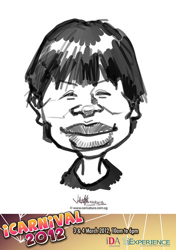 digital live caricature for iCarnival 2012  (IDA) - Day 1 - 76