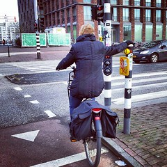 Lean on your city. #cyclechic #amsterdam #bike