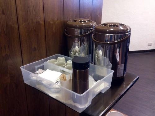 研討會提供的單品咖啡與茶