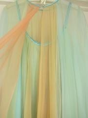 Vanity Fair Vintage Rainbow Babydoll Lingerie Set