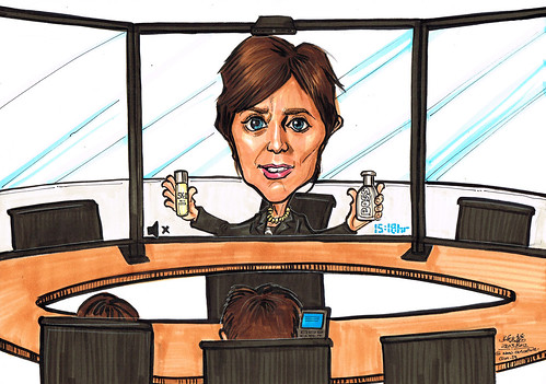 Net Conference meeting VCS caricature for P&G