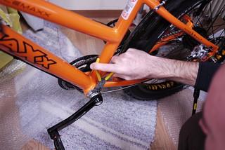 Maxx Bikes Pacemaxx Comfort frame - eccentric bottom bracket (Sapporo, Japan)