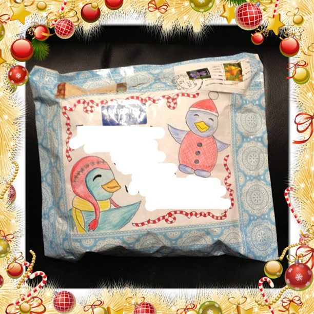 #christmas #package #letter #winter #birds #snailmail