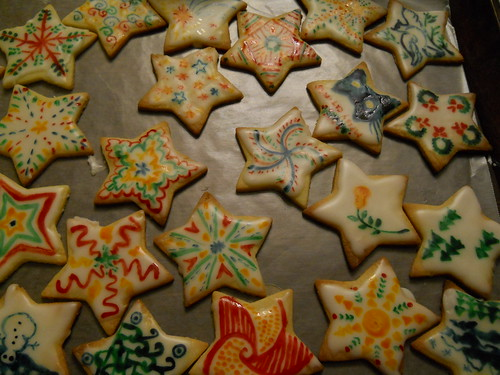 painted Christmas cookies
