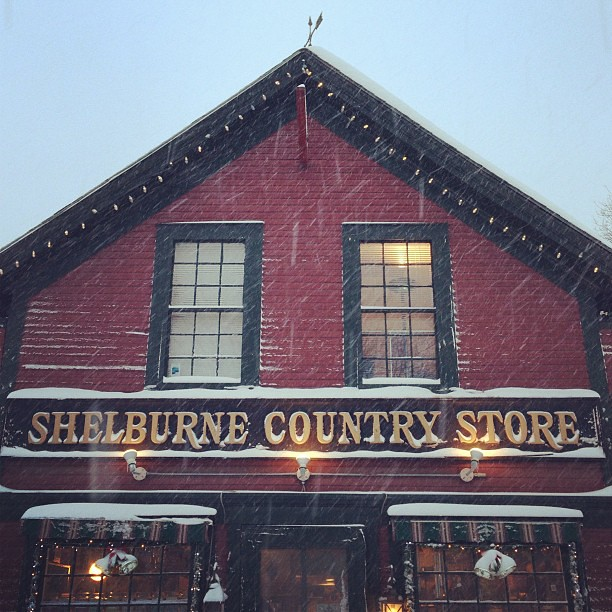 Braving the storm to walk to the country store #ilovermont