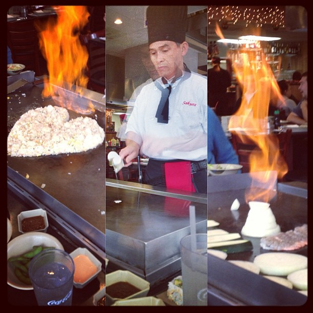 Team birthday lunch! #tepanyaki #fire #flames #yum