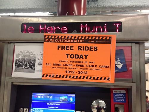 Free Muni Rides - December 28th