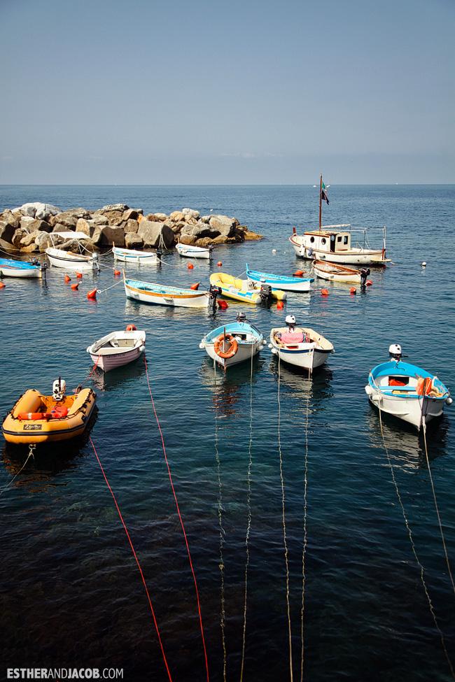 Boats in Riomaggiore Marina | Cinque Terre Italy | Travel Photography