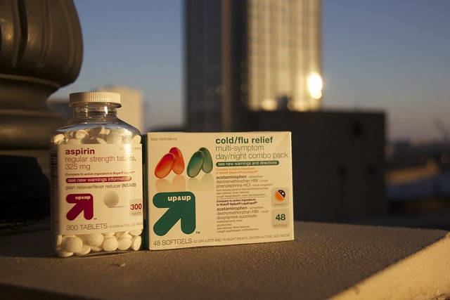 aspirin, cold/flu relief - by up&up