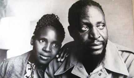 Zimbabwe General Tongo and his wife Angeline during the early days of their marriage. Amai Angeline has conveyed a story of their experiences in Zambia during the mid-1970s. by Pan-African News Wire File Photos