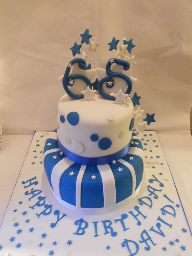 Blue silver white 65th birthday cake stars a photo on flickriver blue silver white 65th birthday cake stars gumiabroncs Images