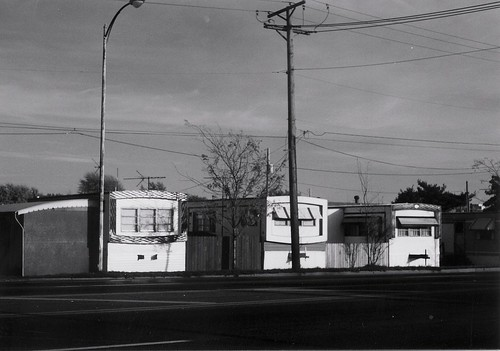 The old trailer park on South Cicero Avenue at West 90th Street.  Oak Lawn Illinois.  October 1990. by Eddie from Chicago