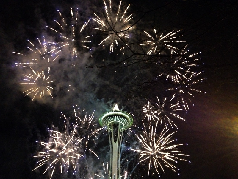 New Year's Day 2013 at Space Needle