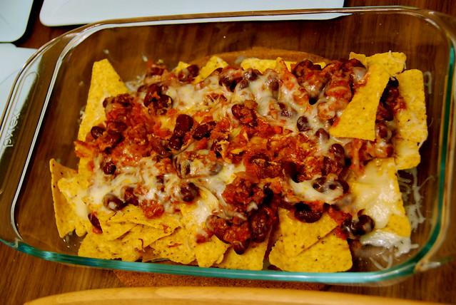 nachos con chili