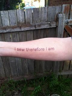 I sew...