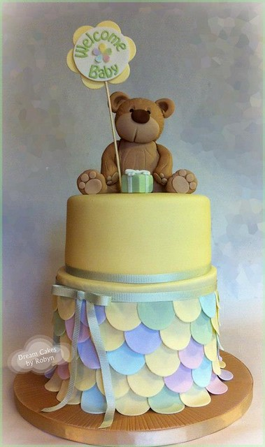 Teddy Bear Baby Shower Cake Flickr Photo Sharing
