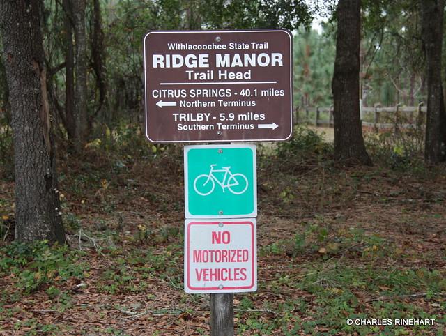 Ridge Manor Trailhead On Withlacoochee State Trail