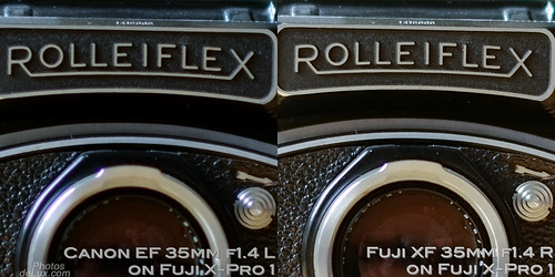 Fuji XF 35mm vs Canon EF 35mm f1.4 No.2