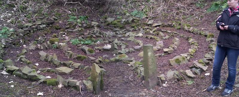 Stone maze near Balmashanner Hill