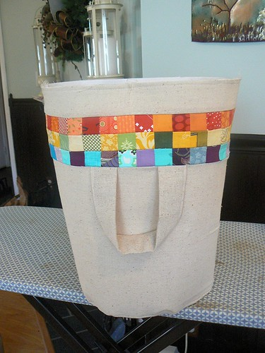 Postage Stamp Basket