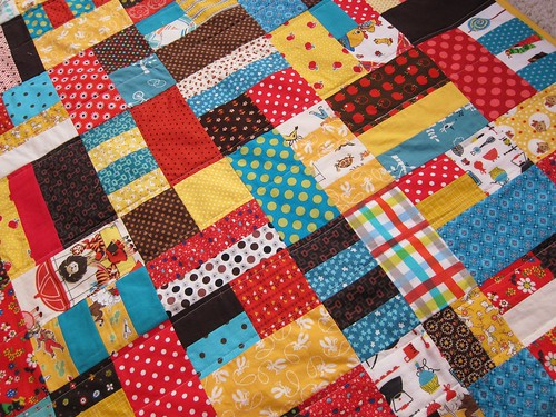 loud baby quilt closeup