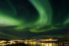 [Free Images] Nature, Aurora, Night Sky, Landscape - Norway ID:201301222000