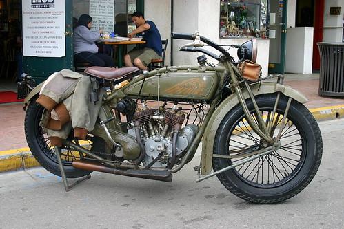 Vintage Indian Motorcycle, Pismo Beach, California