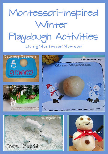 Montessori-Inspired Winter Playdough Activities