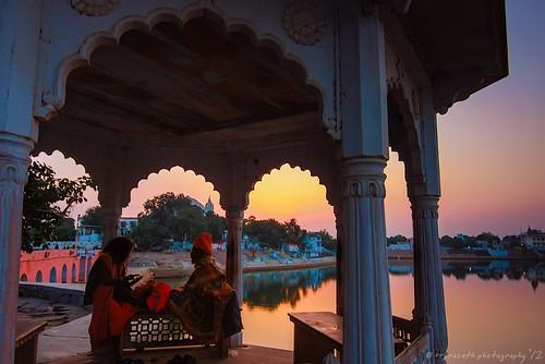 Sunset and Sadhus