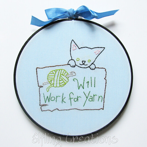 Yarn Cat Embroidery