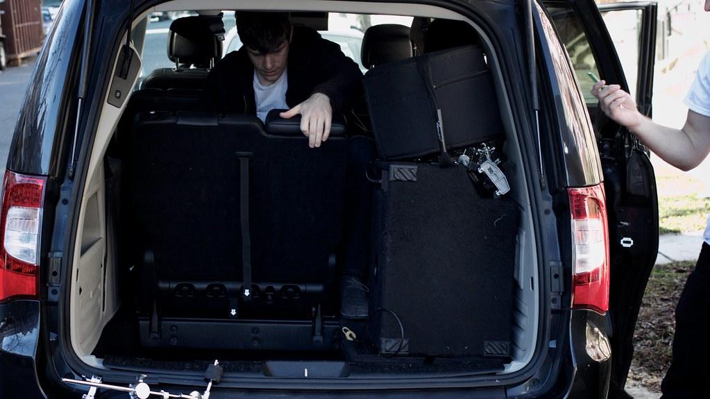Sean helping load the van
