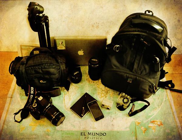 El equipo del bloguero de viajes
