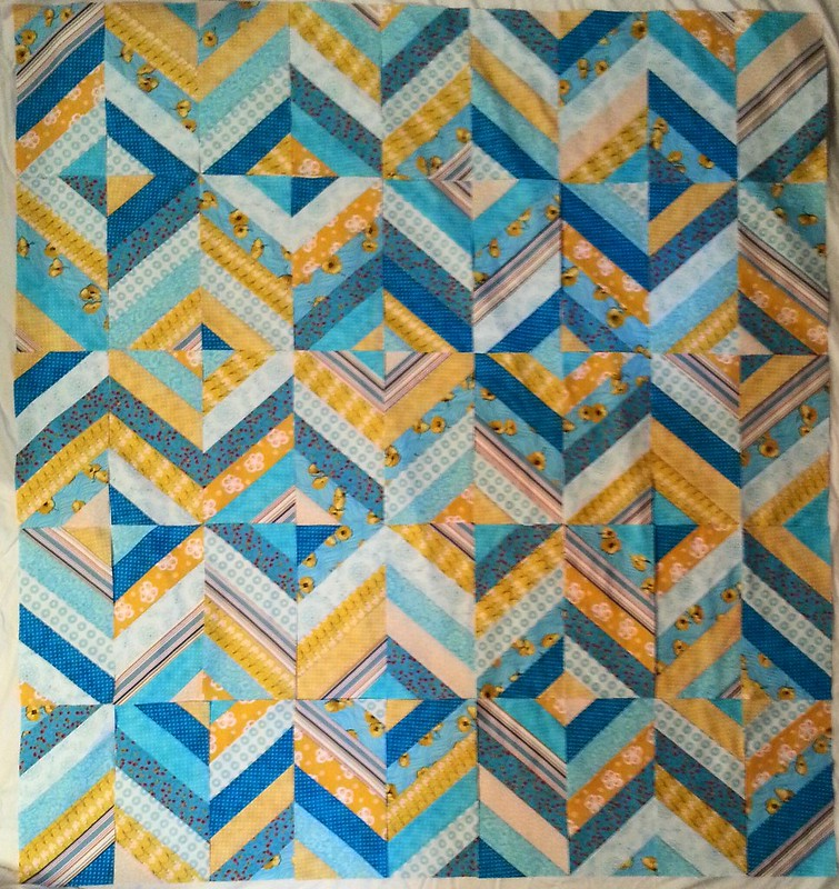 Herringbone quilt top - WIP