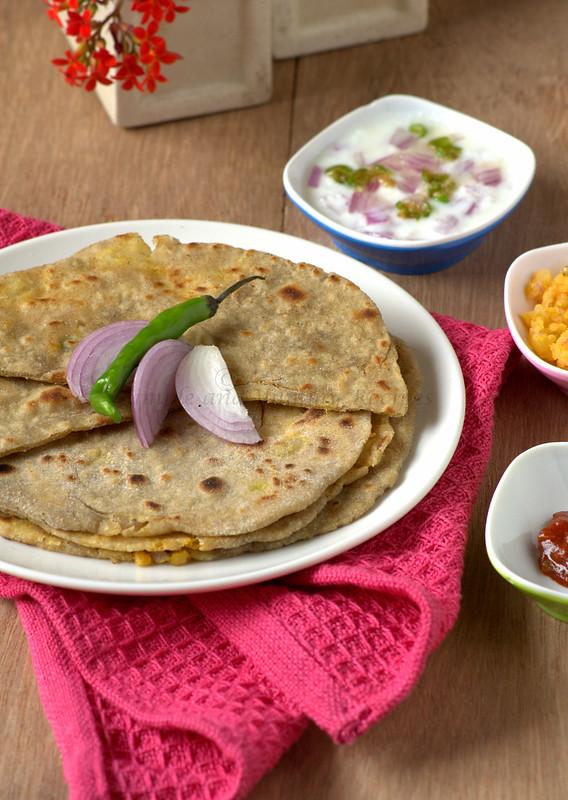 Aloo Stuffed Bajra Paratha