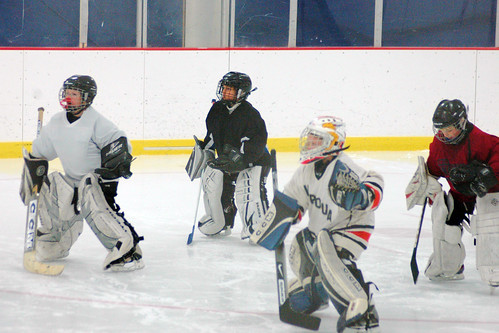 day 3127: first goalie practice!