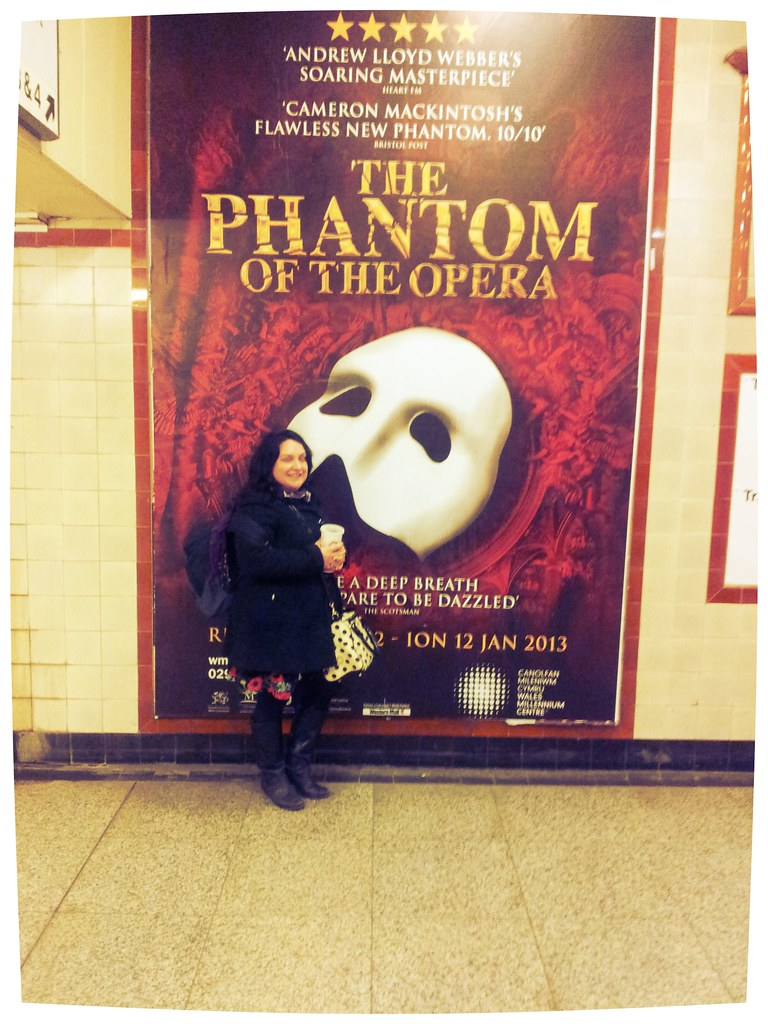 Cardiff Train Station Phantom of the Opera poster