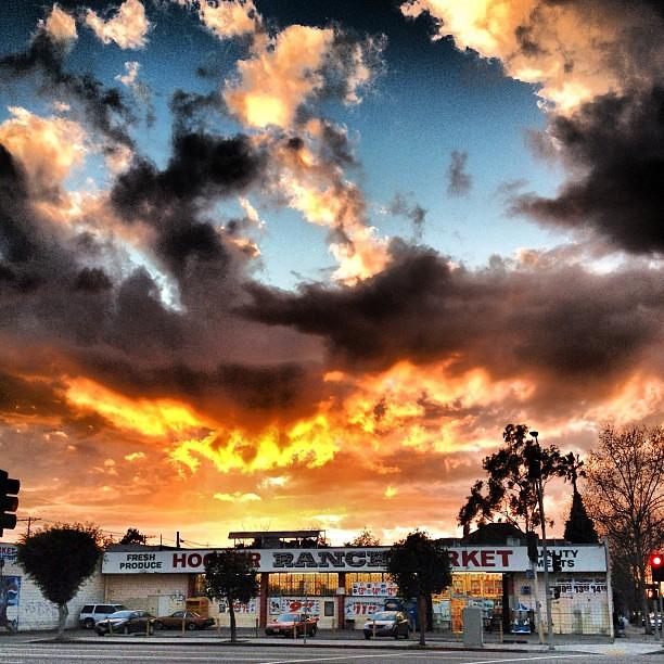 West Adams sunset.