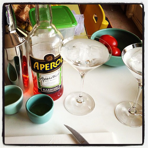Making Aperol sours... #cocktailtime