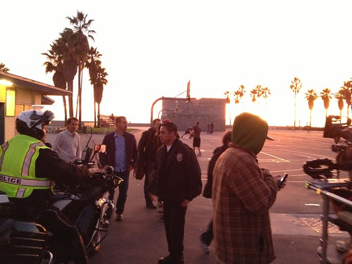 NCIS LA and Chris O'Donnell in Venice Beach