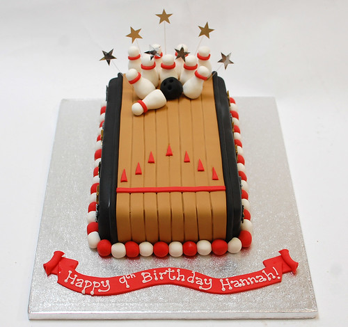 Bowling Pin Birthday Cake