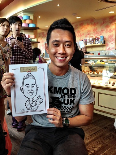 caricature live sketching for Au Chocolat Opening - Day 2 - 10