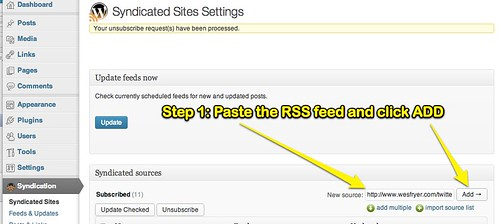 Step 1: Add RSS Feed