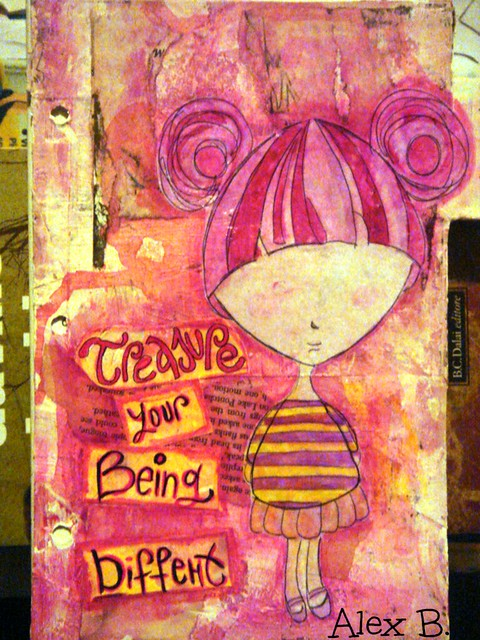 art journal cover treasure -Whimsical Characters 031